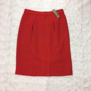 J. Crew Drapey Crepe Pencil Skirt NWT Size 2